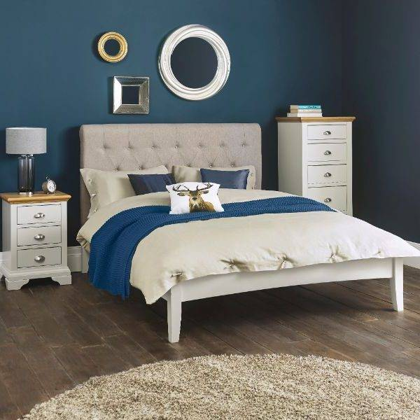 Hampstead Soft Grey and Oak Bedroom Furniture