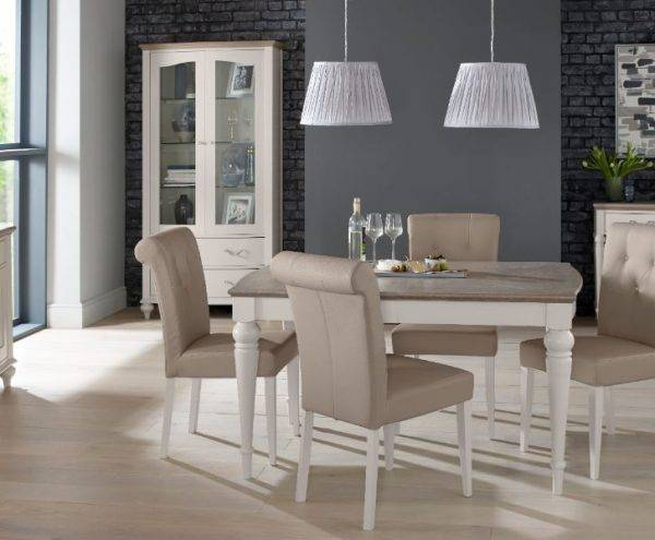 An example of our dining chairs and tables range at our Burton on Trent furniture showroom near Derby & Swadlincote.
