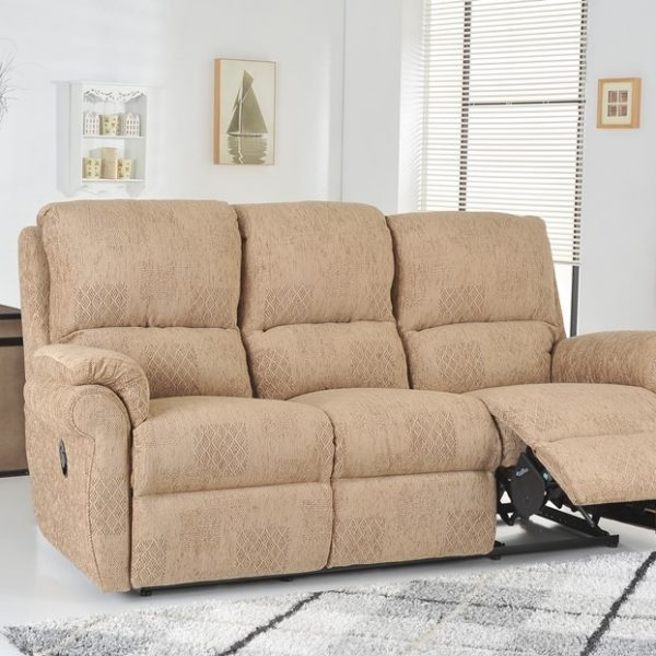 Suffolk 3 seater fabric sofa with recliner at our Burton on Trent Sofa Showroom