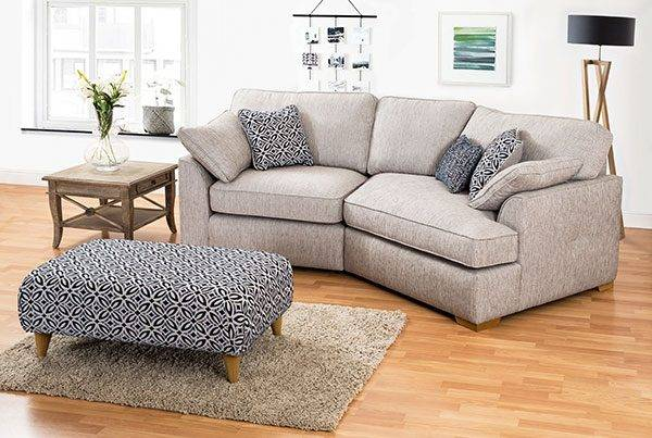 curved corner fabric sofa - The Lorna range