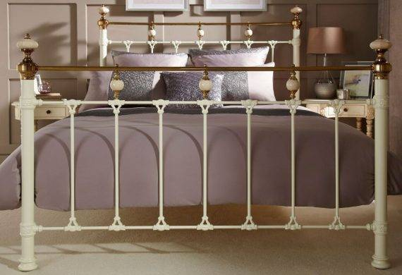 the Abigail metal bedstead / bedframe available at out burton on trent bedroom shop / showroom