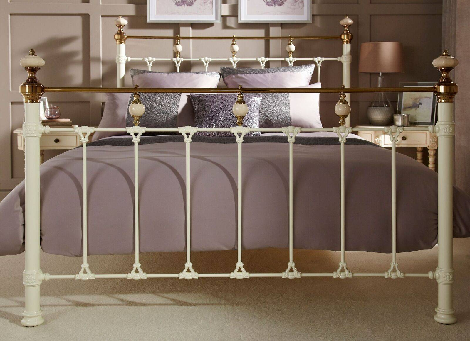 e41e8cab1910 the Abigail metal bedstead / bedframe available at out burton on trent  bedroom shop / showroom