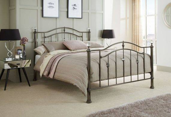 the Ashley metal bedstead / bedframe available at out burton on trent bedroom shop / showroom