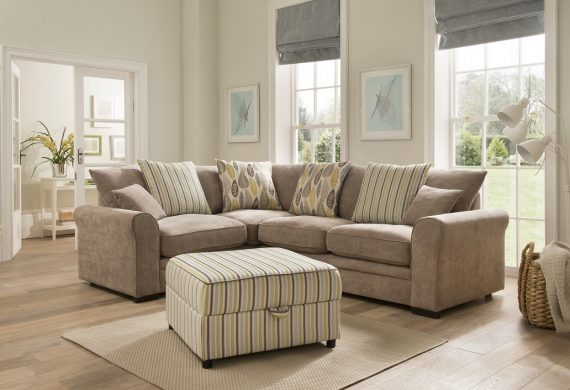 Elise group HI RES corner sofa suite available at our Burton on Trent furniture shop