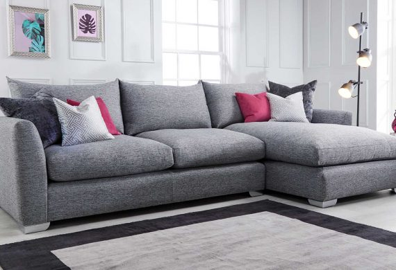 Fabio Corner group sofa suite available at our Burton on Trent furniture shop