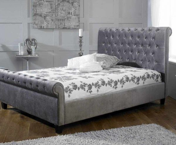the Orbit Bed in Plush Silver Available in Our Bedroom Shop in Burton on Trent - The premier Bed Showroom in Burton on Trent Near me