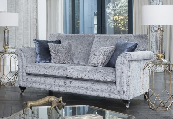 the Fleming sofa suite - 3 seater fabric sofa - in gorgeous fabric at our Burton on Trent sofa shop